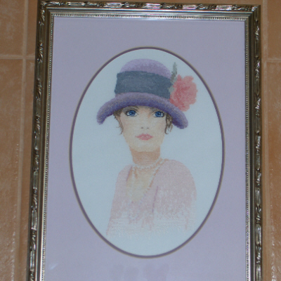 Cloche Hat Girl (Framed Picture)