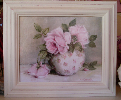 Roses in a Chintz Bowl Print