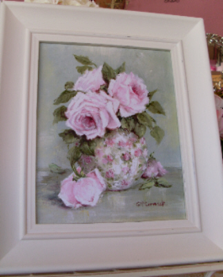 Roses in a Chintz Jug Framed Print