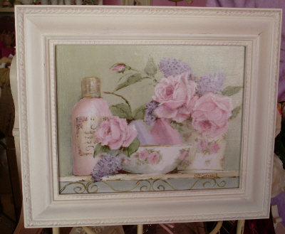 Rosy Bathroom Print